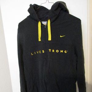 Women's Nike XL Live Strong Black & Yellow hoodie